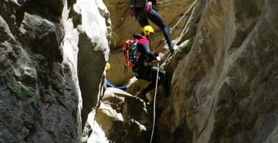 "Colonie ""Cocktail de sensations"" rappel canyoning"