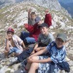"""Colonie """"Sports et aventures"""" au sommet du Vercors (Grand Veymond 2341 m)"""